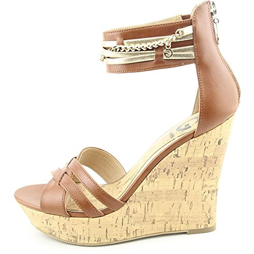 G By Guess Diala Femmes Synthétique Talons Compensés Brown Multi