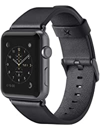 Belkin Classic Leather Apple Watch Strap for 42 mm Apple Watch Series 1 and 2, Made from Genuine Italian Leather - Black