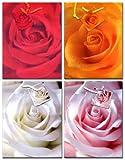 10 Geschenktüten Rosen Blume M 23x18x10 Geschenktaschen Tragetasche 99-9015