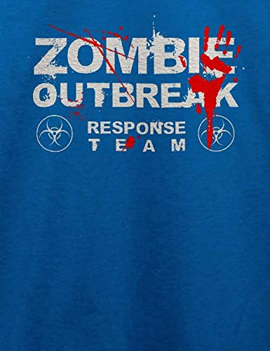 Zombie Outbreak Response Team T-Shirt Royal Blau
