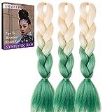 Jumbo Braids-Premium Qualität 100% Kanekalon Braiding Haarverlängerung Full Bundles 100g / pc Synthetik Haar Ombre 24Inch 3Pcs / lot Hitzebeständig, lange Zeit mit-37 Farben 2Tone & 3Tone, Garantie 1 Woche ändern oder Rückerstattung(Farbe 68)