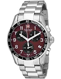 amazon co uk victorinox swiss made watches victorinox swiss army men s 241148 classic chronograph red dial watch