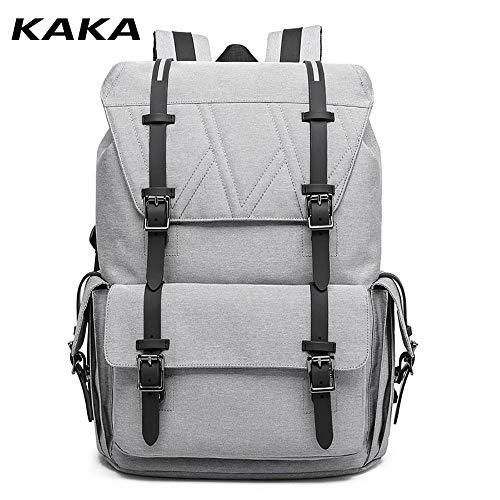 KAKA Anti-Diebstahl-Kordelzug für Männer Reflektierender Rucksack mit großer Kapazität für den Außenbereich