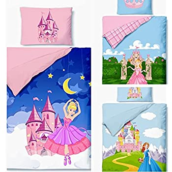 aminata kids kinderbettw sche bettw sche kinder m dchen 100x135 prinzessin rosa rose ballerina. Black Bedroom Furniture Sets. Home Design Ideas