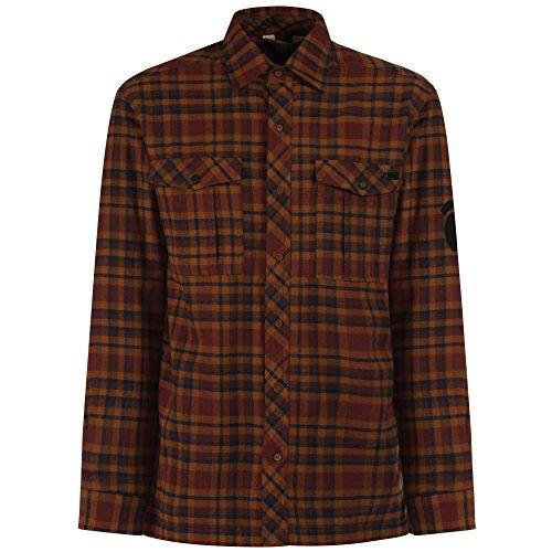 Regatta Mens Tasman Check Pattern Fleece Lined Cotton Shirt Navy