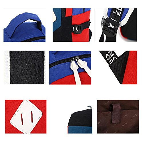 Fashion beautiful Canvas Backpack Einkaufen Farbe Rucksack Outdoor Sport Shopping Multifunktions Tasche Handtasche Blue