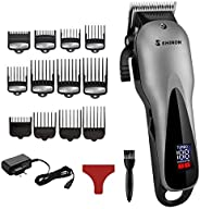 LANYAOWEN Professional barber hair clipper electric hair trimmer man rechargeable hair cutting machine haircut compatible fo