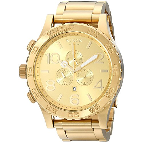nixon-unisex-analogue-watch-with-gold-dial-analogue-display-a083502-00
