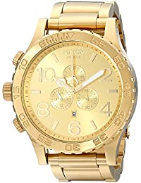Nixon Herren-Armbanduhr 51-30 Chronograph Quarz Edelstahl beschichtet A083502-00