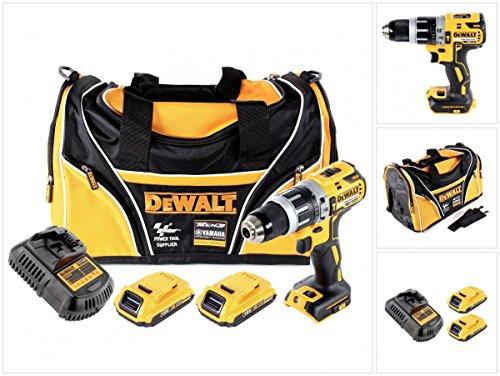 Preisvergleich Produktbild DeWalt DCD 796 18 V Akku Schlagbohrschrauber Brushless 70 Nm in Tasche mit 2x DCB 183 2,0 Ah Akku + 1x DCB 105 Ladegerät