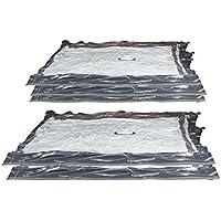 Compactor RAN7368 Aspispace Lot de 5 Sac de Compression Nylon/Polyéthylène Transparent 55 x 90 x 1 cm