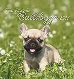 Französische Bulldogge 2018: aufstellbarer Postkartenkalender