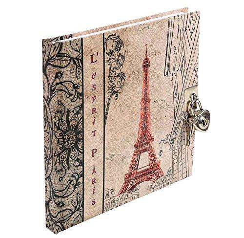 Tagebuch mit Schloss - Esprit Paris 180 Seiten liniert 17 x 16 cm Motiv Eiffelturm