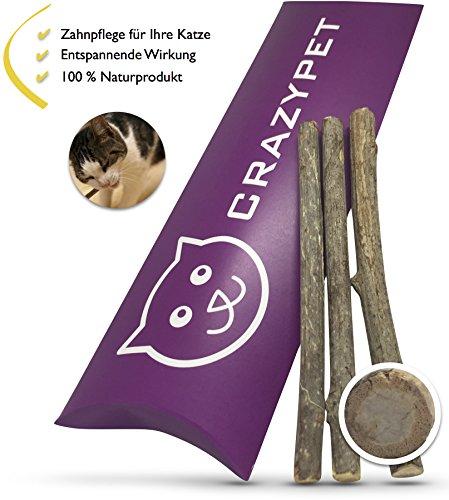 CRAZYPET │ Natürliche Zahnpflege-Sticks mit Katzenminze für die Gesundheit Ihrer Katze