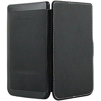 Unsere echte leseschutz Super Basic Slimfit Pocketbook Touch lux2 Hülle original nur von s4f / source4fashion für den Pocketbook E-Reader / Ebook in der Farbe schwarz / black - super slim fit