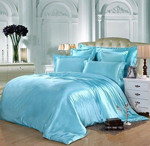 gorgeous-6pcs-silk-satin-duvet-cover-silky-bedding-set-fitted-sheet-duvet-cover-4-x-pillow-cases-bed