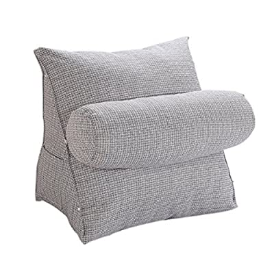 Halovie Adjustable Back Wedge Cushion Pillow 47*45*23 Sofa Bed Office Chair Rest Cushion Neck Support Pillow Pearl Wool - cheap UK light shop.