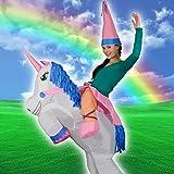 Erwachsene aufblasbare Einhorn Prinzessin Oktoberfest Halloween Kostüme Blow Up Party Cosplay Kostüm -