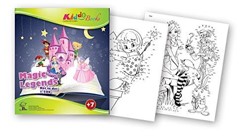quac kduck libro para colorear Magic Legends-Dot to Dot 1-200-Legenden mágicas-Cuento de punto a punto 1-200-Bloc para niños a partir de 7años-con buntem sammel sobre enchufables.