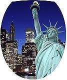 Sticker Autocollant Abattant WC New York Statue de la Liberté 35x42cm - SAWC0518