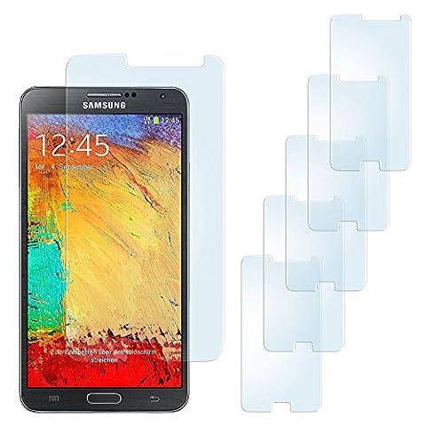 5x OneFlow Anti Reflex Display Schutzfolie für Samsung Galaxy Note 3 Folie Displayfolie Matt | Beste Passform und optimaler