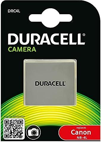 Duracell Premium Analog Canon NB-4L Battery for ixus 100 110 PowerShot SD30 DH928 3.7V 720mAh