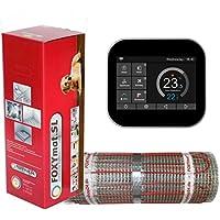 1.5 m/² 200 Watt pro m/² mit Thermostat QF-WHITE elektrische Fu/ßbodenheizung FOXYMAT.SL RAPID 0.5m x 3m