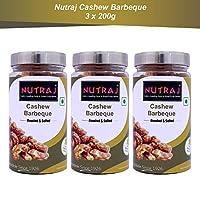 Nutraj Cashew Barbeque 200g Silver Jar (Pack of 3)
