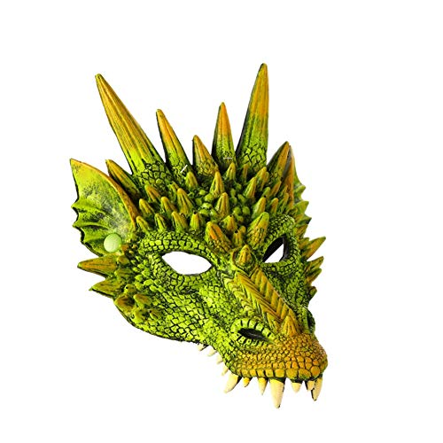 Balai Halloween Scary 4D Dragon Maske, Half Face Halloween Maske für Kinder Teens, Halloween Kostüm Party Dekorationen (Scary Kostüm Teens)