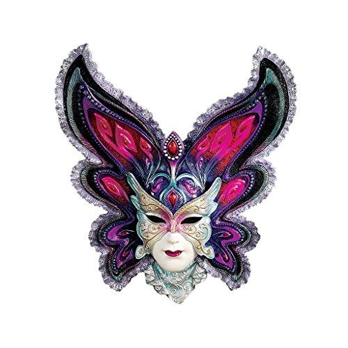 rauen vom Mardi Gras, Wandmaskenskulptur: Schmetterlings-Jungfrau (Mardi Gras Farbe)