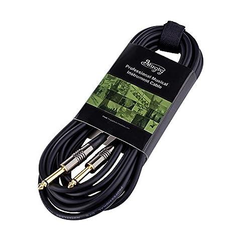 Mugig Câble Guitare d'instrument Jack-Jack Mono 1/4