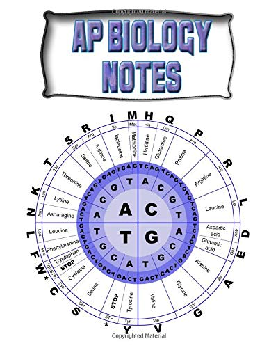 AP Biology Notes: Biology Lessons Notebook, Biology Study Guide, 8x10 Journal, 120 Blank College Ruled Pages, Ideal Biology Student Gift (School Notebooks, Band 158)