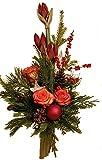 WEIHNACHTSGRUß | Tanne | AMARYLLIS rot | ROSEN GROß orange | WEIHNACHTSDEKO |