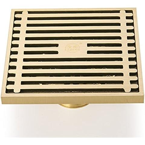 YUENLONG Drenajes en el piso y resistente a los olores cobre automático cuatro sellados a prueba de cuatro ducha ducha desagüe ducha piso drenaje enorme los motores 10 * 10