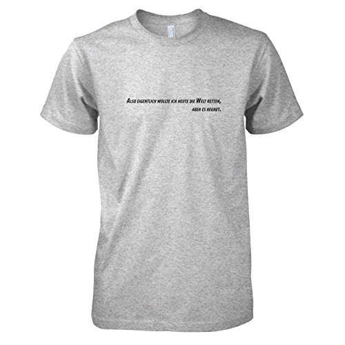 TEXLAB - Es regnet - Herren T-Shirt Graumeliert