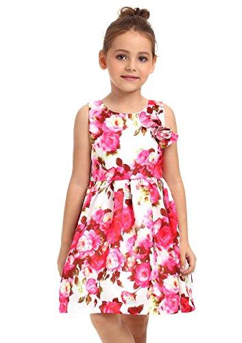 Ephex Mädchen Kleid Floral Prinzessin Rock Für 2 bis 11 Jahre (Ziemlich Rock Floral)