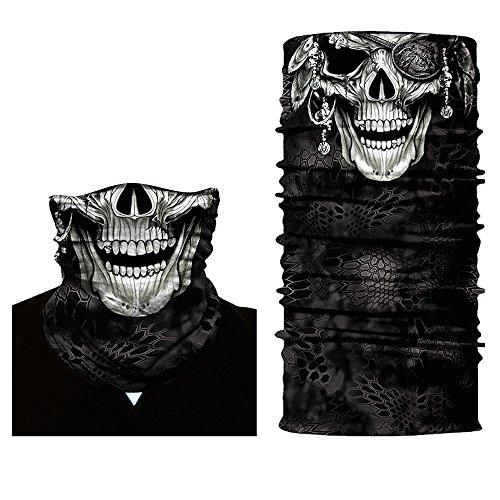 Shopiness copricapo bandana multifunzione - cranio (3 design) (pirata)
