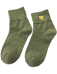 Calcetines Algodon Hombre Mujer Niñas Calcetines Largo Antideslizantes Respirable Calcetines Amor Mujer para Otoño