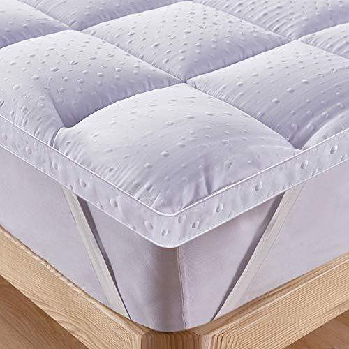 Bedecor Unterbett Matratzen Auflage Soft-Topper, Luxus-3D-Massage Bubbbles Abdeckung 140x200 cm