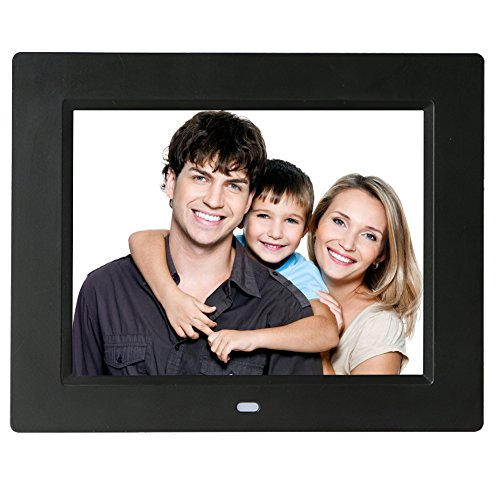 Digitaler Bilderrahmen, Full HD 10.1 Zoll Ultra Dünnes Digitaler Album mit Bewegung Sensor, IPS 1024*600, Foto, Musik & Video, HongLanAo Elektronischer Bilderrahmen (Schwarz)