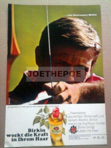 60er Jahre : BIRKIN HAARWASSER VON DR.DRALLE - alte Werbung /Originalwerbung/ Printwerbung /Anzeige /Anzeigenwerbung 17,5 x 25,5 cm