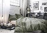 PRECIEUSE VEGETALE - Parure de lit pour 2 personnes : Housse de couette 240x220 cm + Taies d'oreiller 65x65 cm