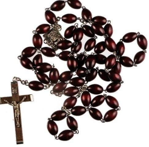 Brown-Wood-Rosary-Extra-Large-Rosary-Bead-Wooden-Rosary-Wood-Crucifix-Only-from-St-Josephs-Catholic-Giftshop-on-Amazon
