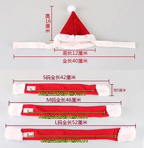 Top Paare Kostüme (Haustier-Produkte Heiße nette hübsche Weihnachtsroter Hundehut-Schalklage)