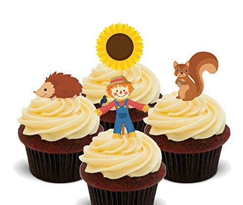 bare Cupcake Topper-Stand-Up Wafer Kuchen Dekorationen, 12er-Pack ()
