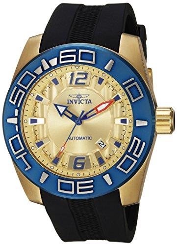 Invicta 'Aviator' automático Reloj Casual de Silicona y Acero Inoxidable, Color: Negro (Modelo: 23532)