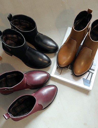 ShangYi Mode Frauen Schuhe Schuhe Damen Fleece Ferse Fashion Stiefel/Schuhe Stiefel Kleid/Casual Schwarz/Gelb/Rot Schwarz