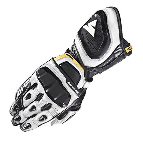 SHIMA VRS-2, Touchscreen Kangaroo Leder Sport Schutz Sommer 2018 Motorrad Handschuhe für Männer(S-XXL), Black and White