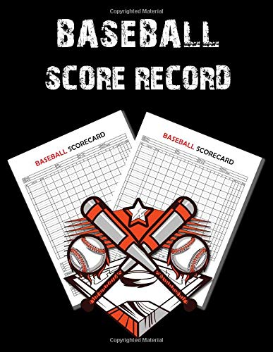 Baseball Score Record: 100 Pages...