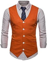 Gilet de Costume pour Homme Casual Mariage Business Veste sans Manche b099e8d4e79